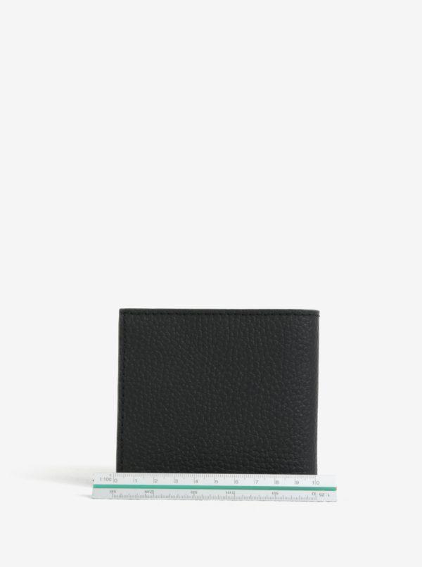Čierná kožená peňaženka Barbour Grain