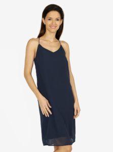 Tmavomodré šaty na ramienka VERO MODA Diana a9c5a73e0a6