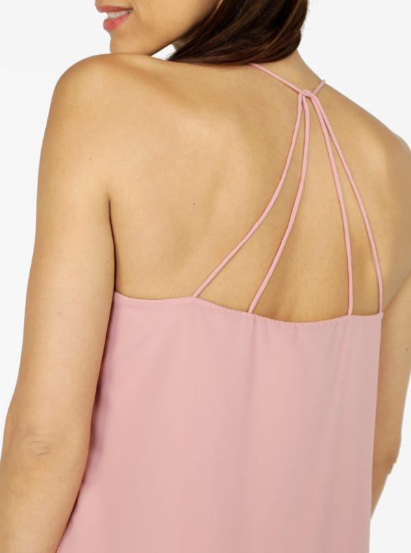 Ružové šaty na ramienka VERO MODA Diana  b28097dd7bf
