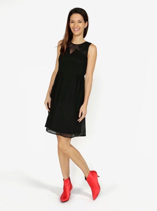 Čierne šaty s čipkou VERO MODA Dacey