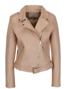 Staroružová kožená bunda VILA Ellas