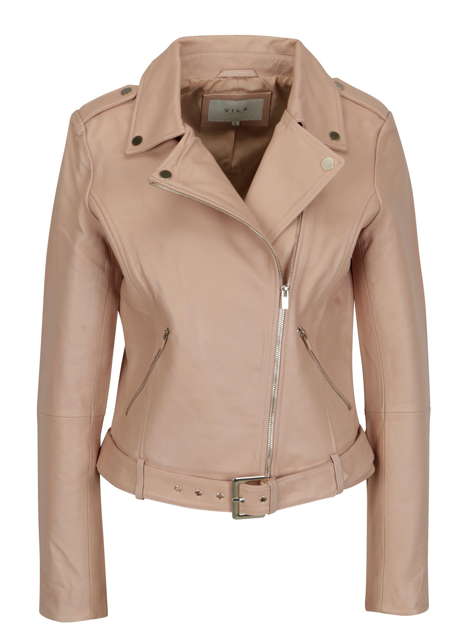 00e33efa60 Staroružová kožená bunda VILA Ellas