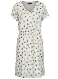 Krémové šaty s motívom buldogov Smashed Lemon