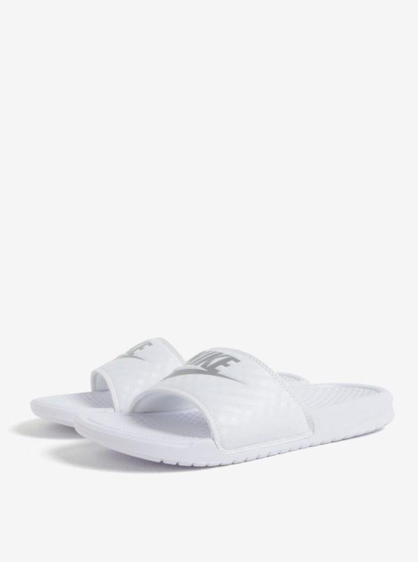 Biele dámske šľapky Nike Benassi Jdi