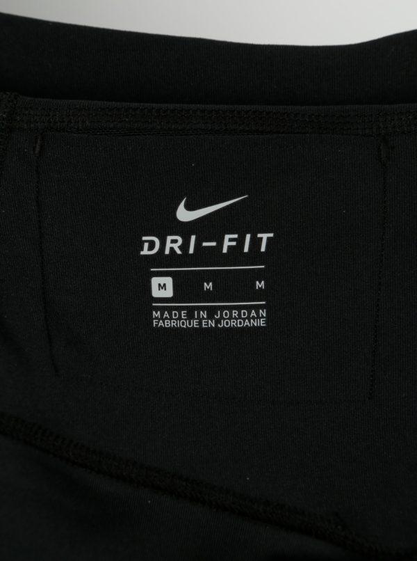 Červeno-čierne dámske funkčné legíny Nike Power Training Tights