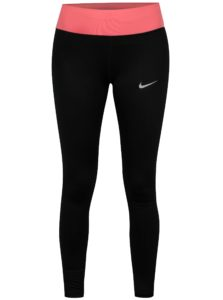 Ružovo–čierne skrátené dámske funkčné legíny Nike PWR ESSNTL TGHT