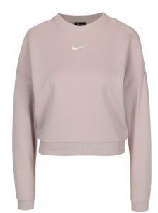 Ružová dámska funkčná crop mikina Nike CREWNECK CROP