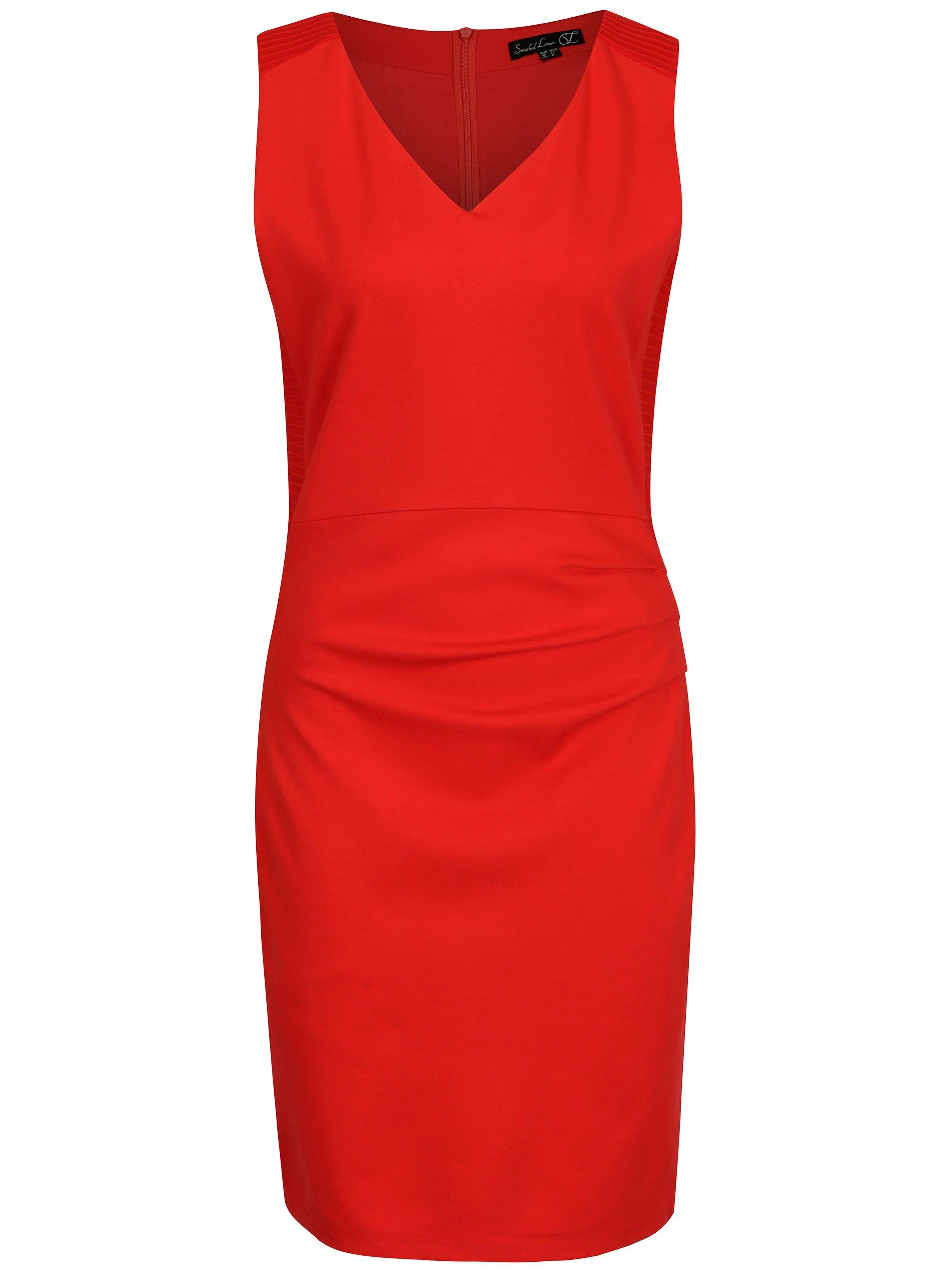 Červené puzdrové šaty Smashed Lemon  132fa52e878