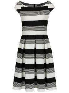 Čierno-biele pruhované šaty Smashed Lemon