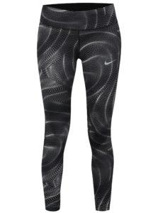 Sivé dámske skrátené funkčné legíny Nike PWR ESSNTL
