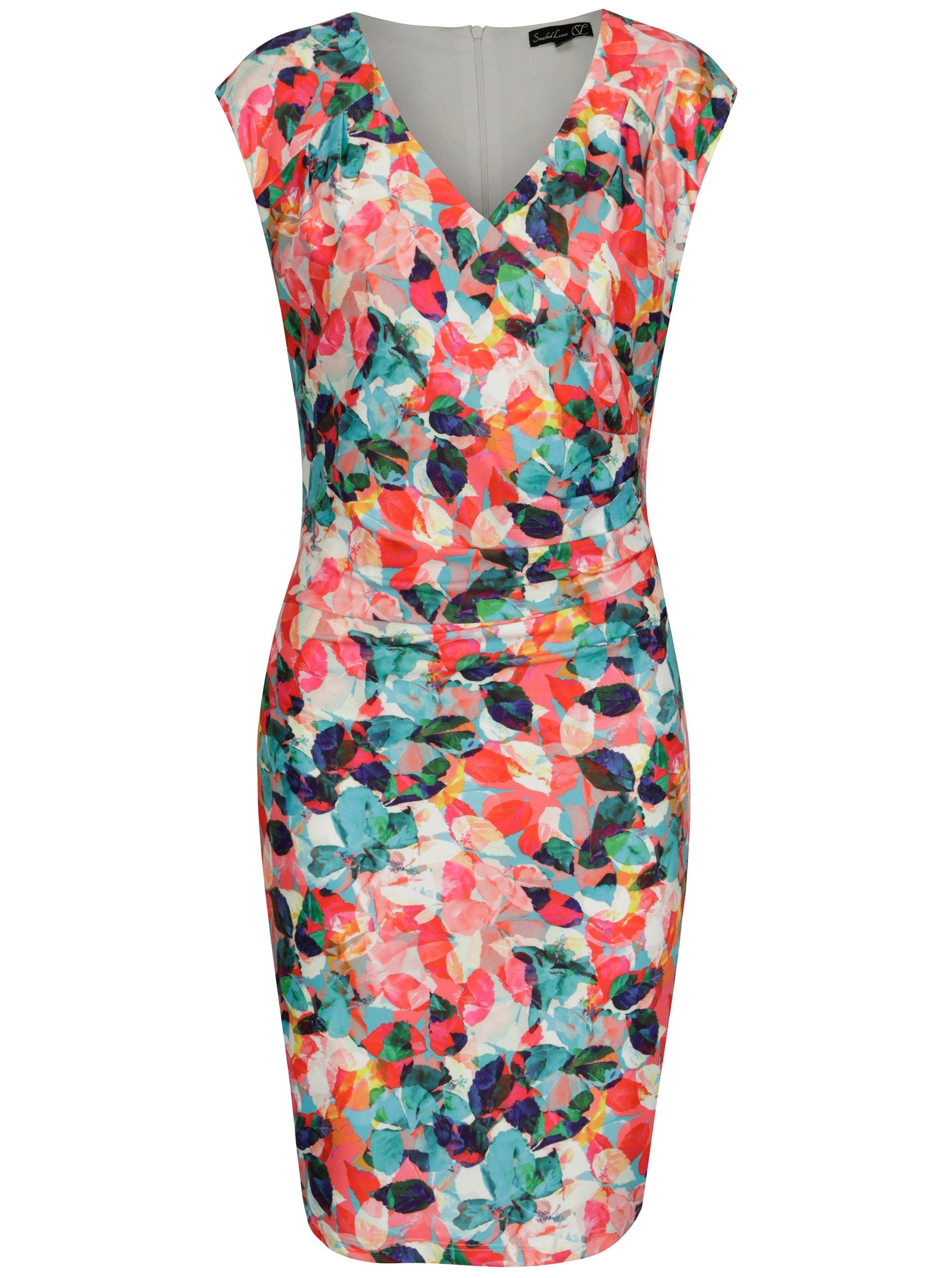 e3d1217ac599 Farebné puzdrové vzorované šaty Smashed Lemon
