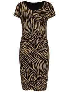 Čierno-hnedé puzdrové šaty so vzorom Smashed Lemon