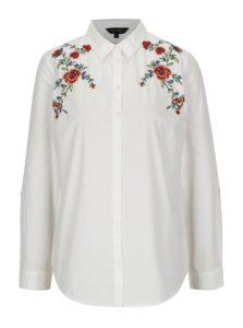 Biela košeľa s výšivkou Dorothy Perkins