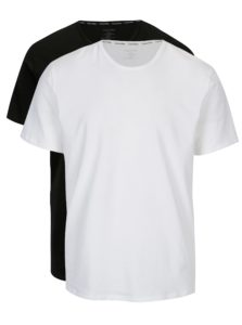 Súprava dvoch pánskych modern fit tričiek v čiernej a bielej farbe Calvin Klein