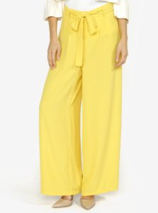 Žlté voľné nohavice s vysokým pásom VERO MODA Mita