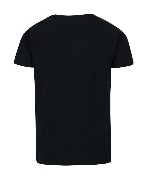 Tmavomodré chlapčenské tričko s potlačou name it Victor