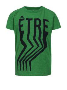 Zelené chlapčenské tričko s potlačou name it Finn