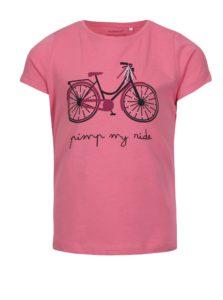 Ružové dievčenské tričko s potlačou name it Veen