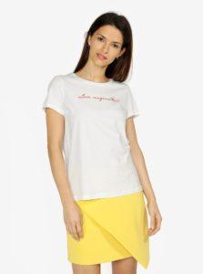 Krémové tričko s potlačou VERO MODA Female