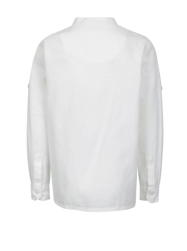 Biela chlapčenská košeľa s dlhým rukávom name it Mihebbe