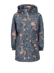 Sivá dievčenská kvetovaná bunda s kapucňou name it Mello