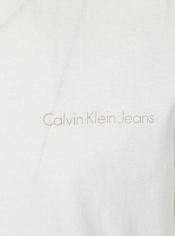 Biele pánske slim fit tričko Calvin Klein Jeans Tiboro