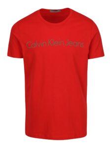 Červené pánske slim fit tričko Calvin Klein Jeans Treasure