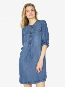 Modré rifľové košeľové šaty s.Oliver