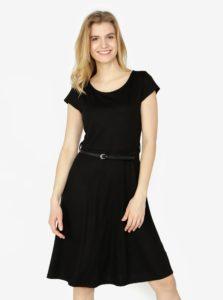 Čierne šaty s opaskom QS by s.Oliver