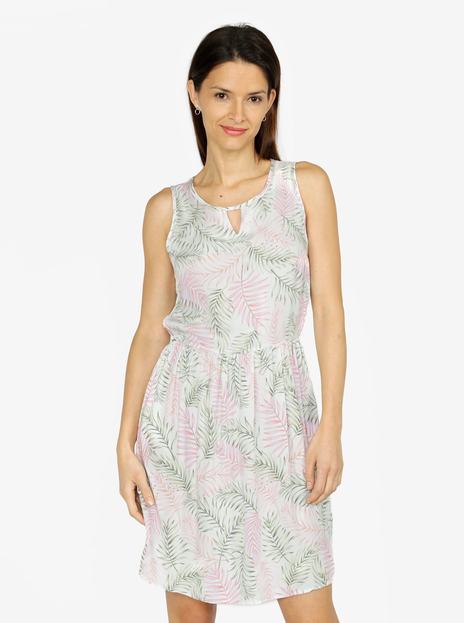 7d54106bb2f9 Svetlozelené vzorované šaty VERO MODA Simply