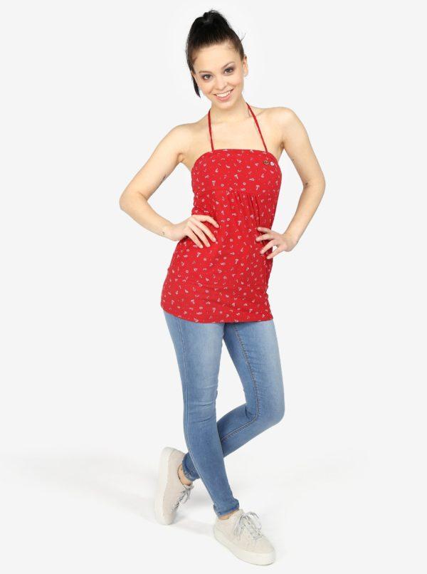 Červený dámsky top s potlačou Ragwear Shortie
