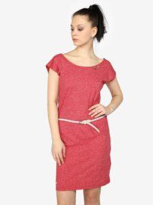 Červené melírované šaty s pásikmi na chrbte Ragwear Sofia 02afbb4452f