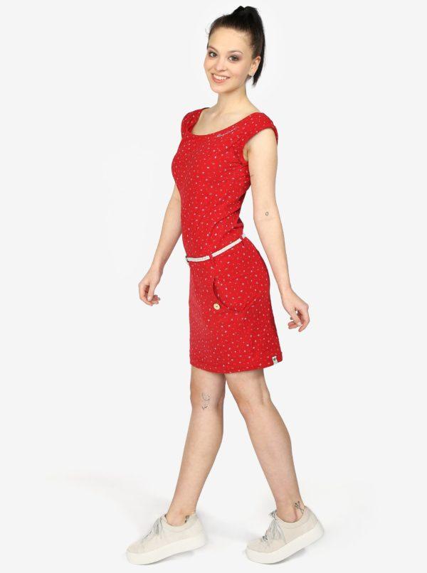 Červené šaty s vreckami Ragwear Tag A Organic