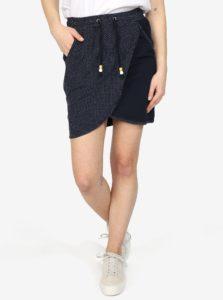 Tmavomodrá bodkovaná sukňa Ragwear