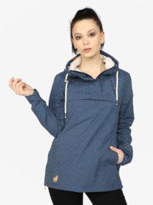 Modrá bodkovaná dámska vodovzdorná tenká bunda Ragwear