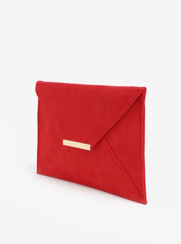 Červená listová kabelka v semišovej úprave Dorothy Perkins