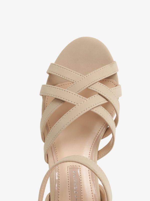 Béžové sandále na podpätku Dorothy Perkins