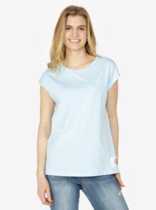 Svetlomodré dámske basic tričko bez rukávov Calvin Klein Jeans Tika