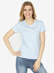 Svetlomodré dámske tričko s potlačou Calvin Klein Jeans Tamar