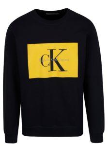 Tmavomodrá pánska mikina s potlačou Calvin Klein Jeans Hotoro