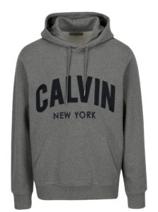 Sivá pánska mikina s kapucňou Calvin Klein Jeans Hikos