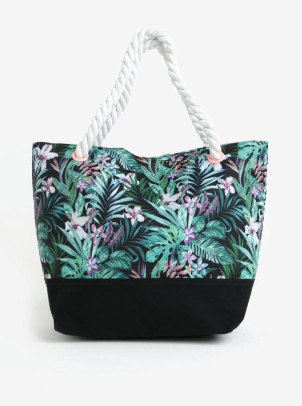Čierna kvetovaná dievčenská taška name it Zibag