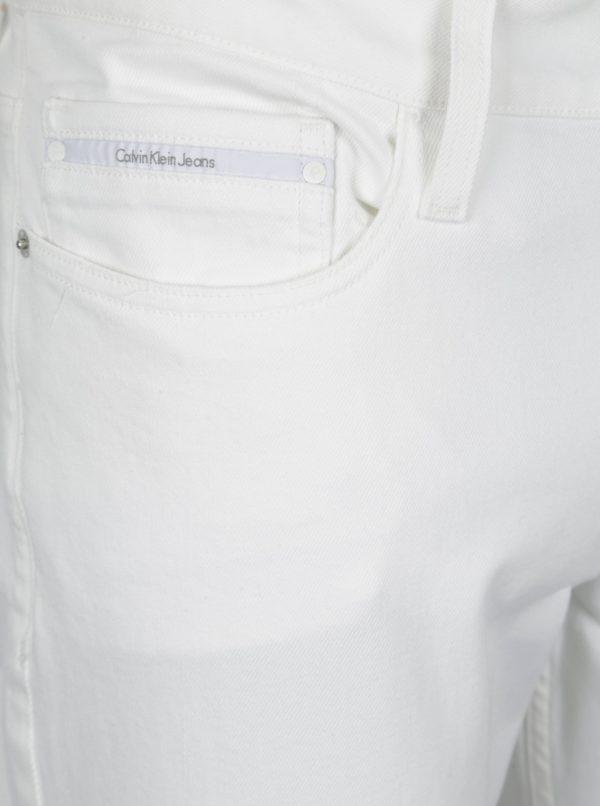 Biele pánske slim straight rifle Calvin Klein Jeans