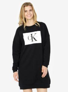 Čierne mikinové šaty Calvin Klein Jeans Dena
