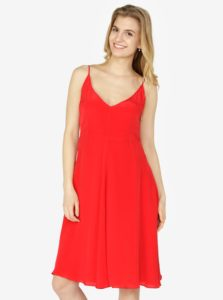 Červené šaty na ramienka Calvin Klein Jeans Deanna