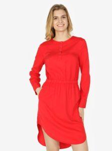 Červené šaty s dlhým rukávom Calvin Klein Jeans Darcy