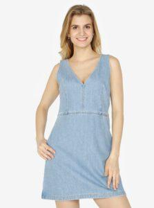 Svetlomodré rifľové šaty Calvin Klein Jeans Dionne