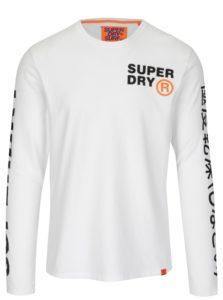 Biele pánske tričko s dlhým rukávom Superdry