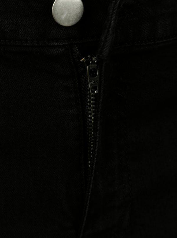 Čierne rifľové kraťasy Dorothy Perkins Curve