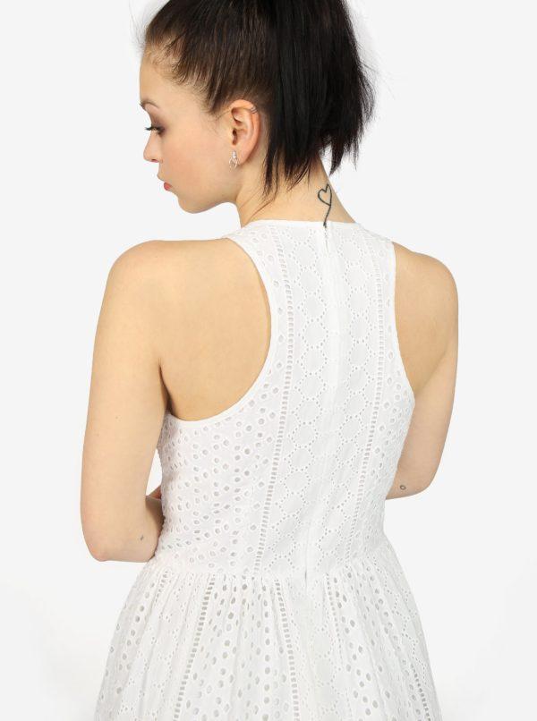 Krémové vzorované šaty Superdry